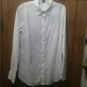 Long sleeve white button down -ANN TAYLOR